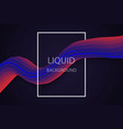 liquid wave background vector image vector image
