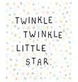 little star - fun hand drawn nursery poster vector image vector image