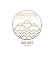 logo circlel nature vector image