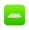 long ship icon digital green vector image vector image