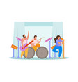 music band flat composition vector image