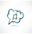 music in the cloud vector image vector image