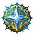 navy emblem vector image vector image