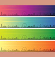 orlando multiple color gradient skyline banner vector image vector image