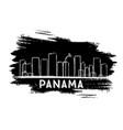 panama skyline silhouette hand drawn sketch vector image vector image