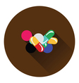 Pill and tabs icon vector image vector image