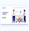 property arrest website landing page vector image