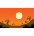 Pumpkin and full moon Halloween bakcgrounds vector image