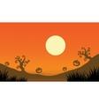 Pumpkin and full moon Halloween bakcgrounds vector image vector image