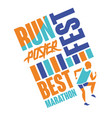 run fest poster template for sport event vector image vector image