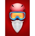 Santa Claus symbol with helmets and goggles vector image vector image