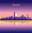seoul city silhouette on sunset background vector image vector image