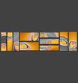 set basketball banners vector image vector image