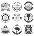 set bicycle repair shop labels and vector image vector image