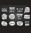 set of vintage back to school in comic vector image