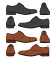set of with classic mens shoes vector image vector image