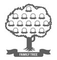 silhouette genealogy family tree son daughter vector image vector image