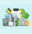 smart financial business investment vector image vector image