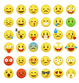 smiley face set character facial yellow sign vector image