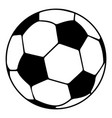 soccer ball icon simple black style vector image vector image