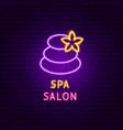 spa salon neon label vector image