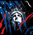 statue liberty head vector image