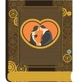 Steampunk photo album LOVE vector image vector image