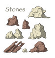stone set vector image