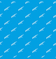 submachine gun pattern seamless blue vector image vector image
