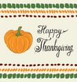 Thanksgiving day calligraphic poster with pumpkin