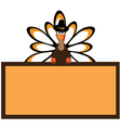 thanksgiving turkey vector image