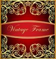 vegetable winding gold pattern frame vector image vector image