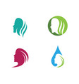 woman face silhouette character logo icon vector image