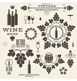 Wine Vintage Isolated labels and icons vector image