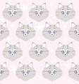 cute cat seamless vector image