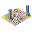3d isometric megapolis city urban vector image vector image