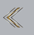 abstract golden arrow direction on grey luxury vector image