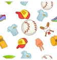 Baseball pattern cartoon style vector image vector image