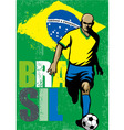 Brazilian football player vector image vector image