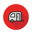 camping trailer icon on white background vector image