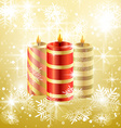 Christmas candle background vector image