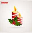 christmas candles icon vector image