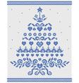 Christmas ornament blue tree seamless textu vector image vector image