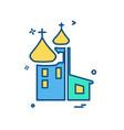 church icon design vector image vector image