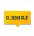 closeout sale price tag vector image vector image