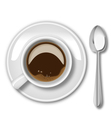 Coffee cup with spoon vector image vector image