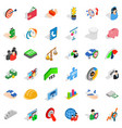 creative icons set isometric style vector image vector image