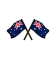 crossed flag poles australia vector image vector image