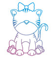 cute female tiger character icon vector image