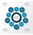 direction icons line style set with medicine vector image